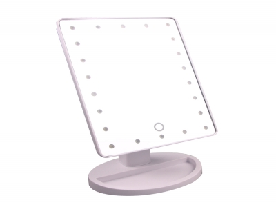OEM Top Sale 22 LED lighted Mirror Touch button 360 Swivel Makeup Table Mirror