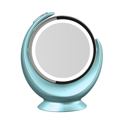 Stand vanity double sided mirror 360 rotation Desktop Magnifier 5X Makeup Mirror with LED Light